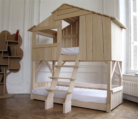 bunk bed house kids playhouse beds from mathy by bols loft treehouse