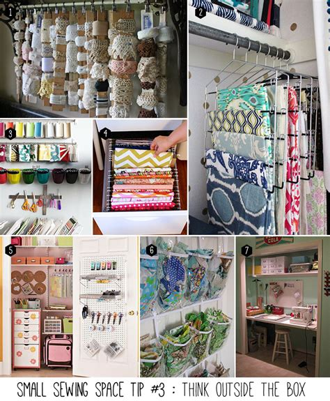 Poster Inspiratif Think Outside The Box Hiasan Dekorasi Dinding 5 Tips To Organize Your Small Sewing Space Andrea S Notebook