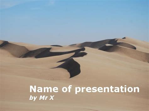sand dunes in the desert powerpoint template