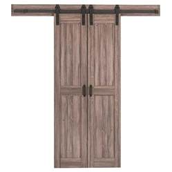 Sliding Barn Doors Lowes Reliabilt 2 Panel Square Barn Interior Door Common 36 In X 84 In Actual 36 In X 84 In