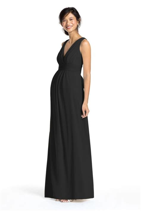 Maternity Bridesmaid Dress by Mesh Sleeveless Maternity Bridesmaid Dress With V