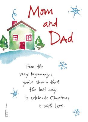 cozy winter house  parents christmas card cardstore