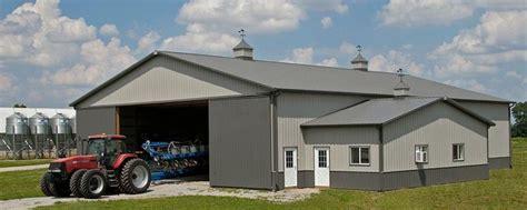 farm building profile  combine tractor storage
