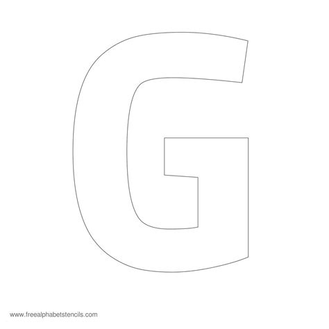 large letter templates pin arial stencil letter pjpg on