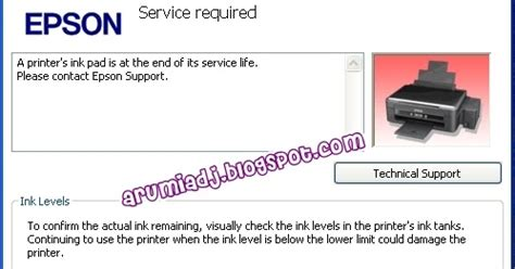 cara reset printer epson l210 service required just want to share cara mengatasi quot a printer s ink pad is