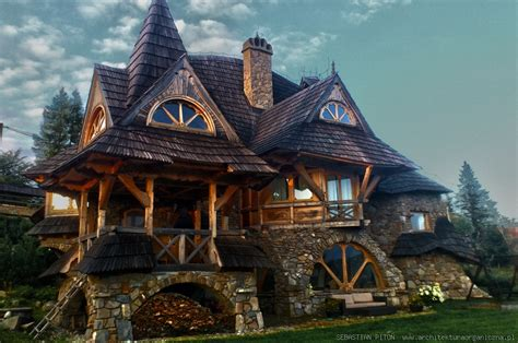 fantasy houses roof framing geometry sebastian piton eyebrow dormers