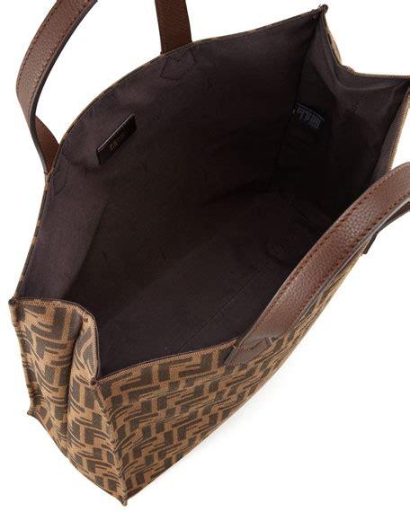 Tas Fendi Totebag fendi zucca shopping tote bag brown