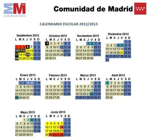 Calendã Escolar Ua El Cole De Jorge Manrique Calendario Escolar Curso