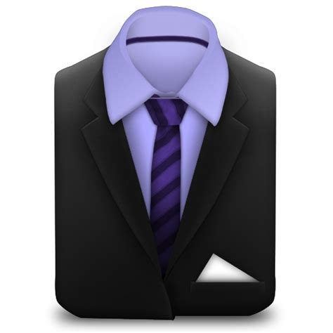 suit clipart manager purple suit with striped tie icon png clipart