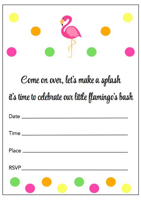 Flamingo Party Free Printable Party Invitations B Dayz Pinterest Party Flamingo Party Flamingo Invitation Template Free