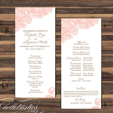 layout for wedding programs for free belletristics stationery design and inspiration for the