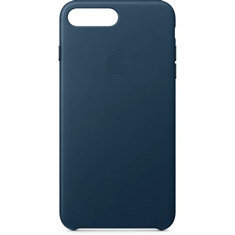 apple iphone 8 plus 7 plus leather cosmos blue mqhr2zm a