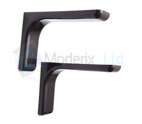 Concealed Shelf Fixings by Shelf Support Bracket With Covers 120mm Invisible