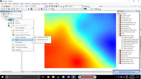 online tutorial for arcgis esri arcgis wrf airtemp 2 meter netcdf to raster