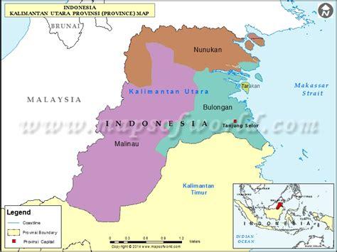 jakarta pusat map kalimantan utara map map of kalimantan utara province