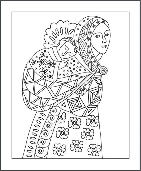 blessed mother pages coloring pages