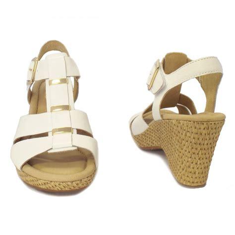 white wedge sandal gabor sandals aristo white leather wedge sandals