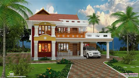 beautiful home designing 2700 sq feet beautiful villa design kerala home design
