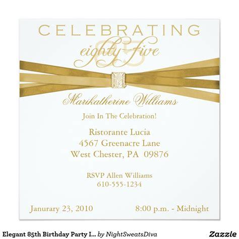 Elegant 85th Birthday Party Invitations Zazzle Com Party Ideas 60th Birthday Invitations 85th Birthday Invitation Template