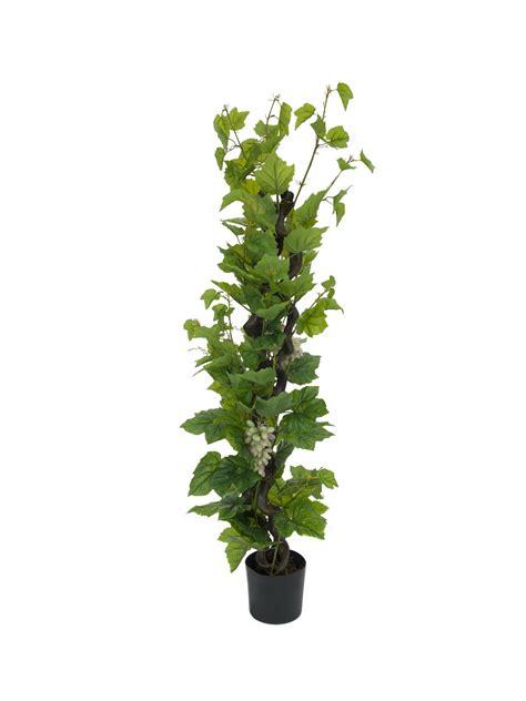 pianta di vite in vaso vite finta con uva 160cm 183 piante finte fiori