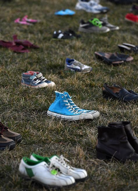 kid killed for shoes 7 000 shoes were placed at the us capitol to represent