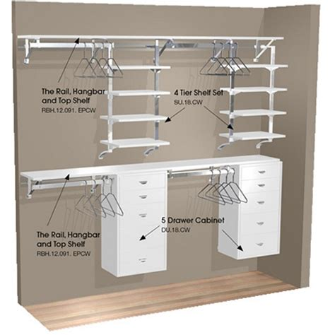 Arranging Kitchen Cabinets by Arrange A Space 91 In Double Hang Wall Closet With 8