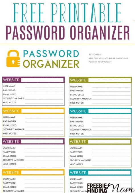 password journal template free printable password organizer a k a printable
