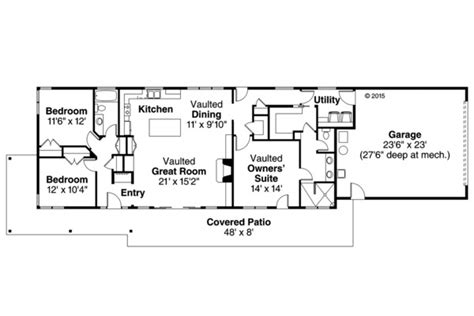 1700 square foot house plans contemporary style house plan 3 beds 2 baths 1700 sq ft