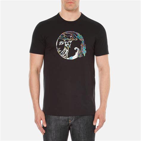 versace collection s medusa printed t shirt black clothing thehut