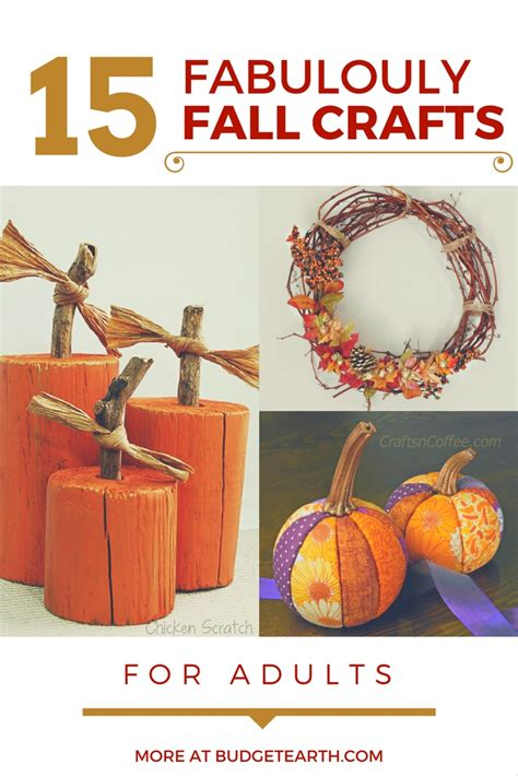 15 fabulously fall crafts for adults budget earth