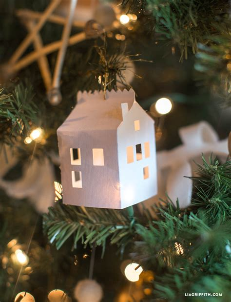 white house christmas tree ornaments diy paper house christmas ornament lia griffith