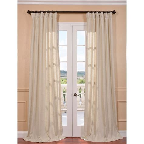 natural linen curtains hilo natural linen blend curtain panel
