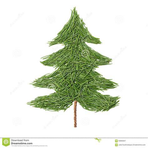 silueta de árbol de navidad silueta 225 rbol de abeto de la navidad hecho de agujas pino en un fondo blanco foto de