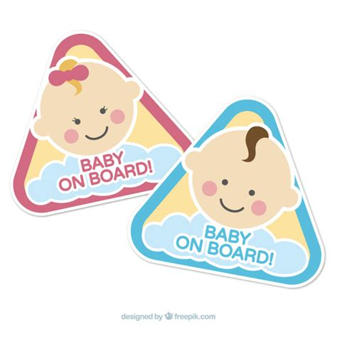 on board baby on board signs vector free