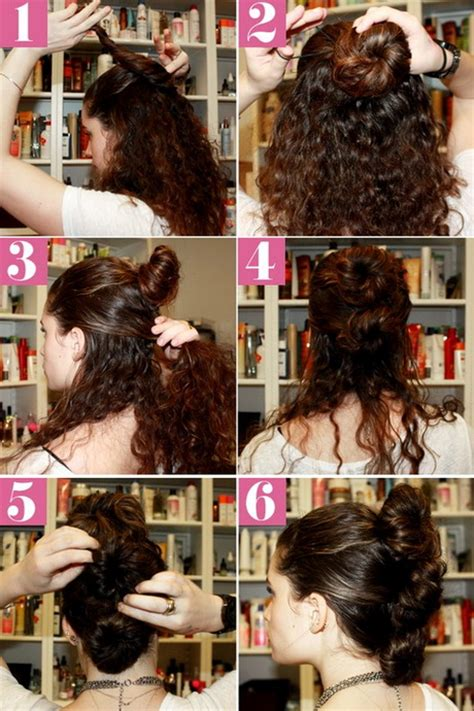 curly hair updos step by step step by step curly hairstyles