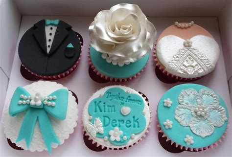 wedding cupcakes quot white teal quot themed cake by elaine s cheerful colourful cupcakes cakesdecor