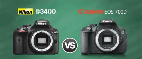 nikon canon nikon d3400 vs canon 700d