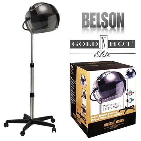 Gold N Hair Dryer belson gold n gh1053 v3 1875w salon ionic stand bonnet