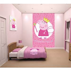 peppa pig princess wallpaper wall mural 2 44m x 1 52m by