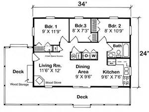 3 Bedroom Cabin Plans House Plan 20003 At Familyhomeplans