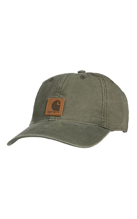 Topi Southern Cap carhartt brown center logo flex fit cap army green and canvases