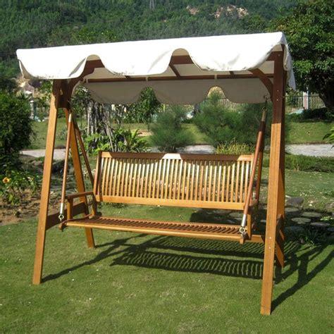 canopy outdoor swings international caravan royal tahiti 3 seater outdoor swing