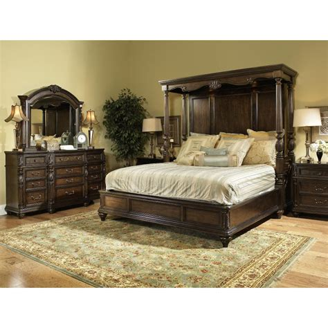 Bedroom Furniture Sets King Chateau Marmont Fairmont 7 Cal King Bedroom Set Rcwilley Image1 800 Jpg