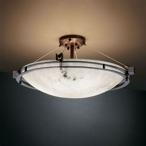 Justice Design Fal 8112 Lumenaria Faux Alabaster 28 Quot Wide Light Fixture