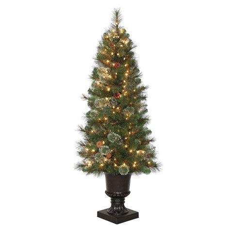 4 5 ft alexander pine potted artificial christmas tree