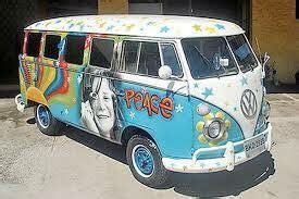 vw van decorated janis joplin campers vans combi modelos hippies