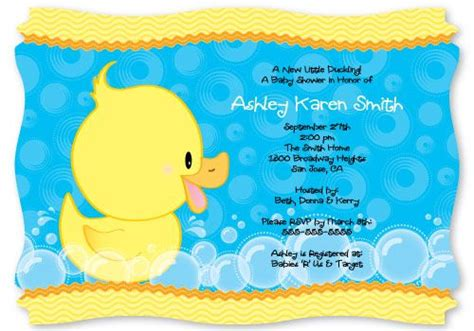 duck baby shower invitation templates personalized baby the o jays and babies on