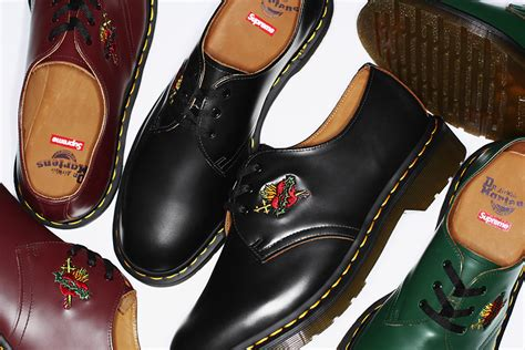 how to get supreme s new limited edition dr martens shoes