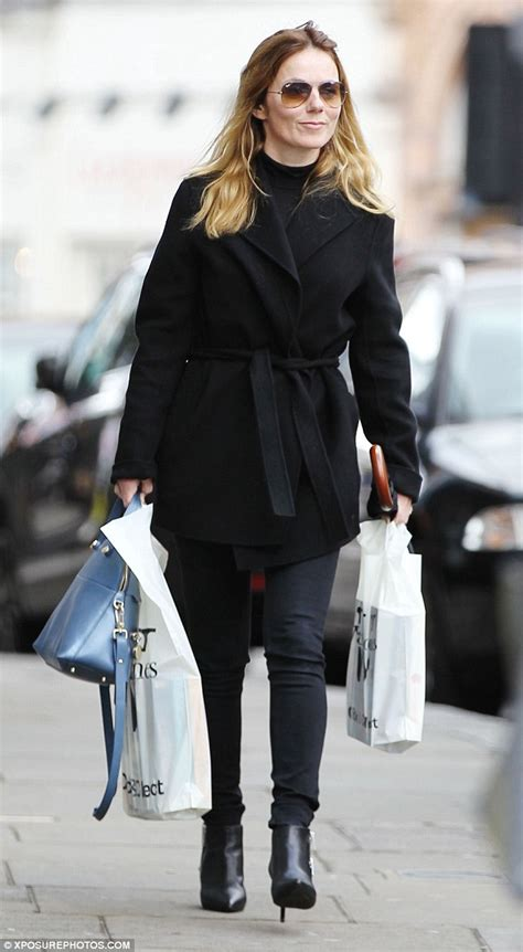 Classic Scrolldown Halliwells So So Ensemble geri halliwell steps out in chic all black as she