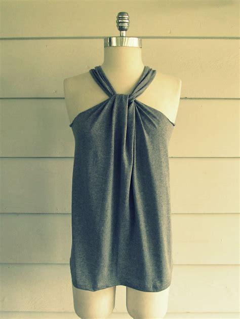 Halter Shirt wobisobi no sew shirt halter 3 diy